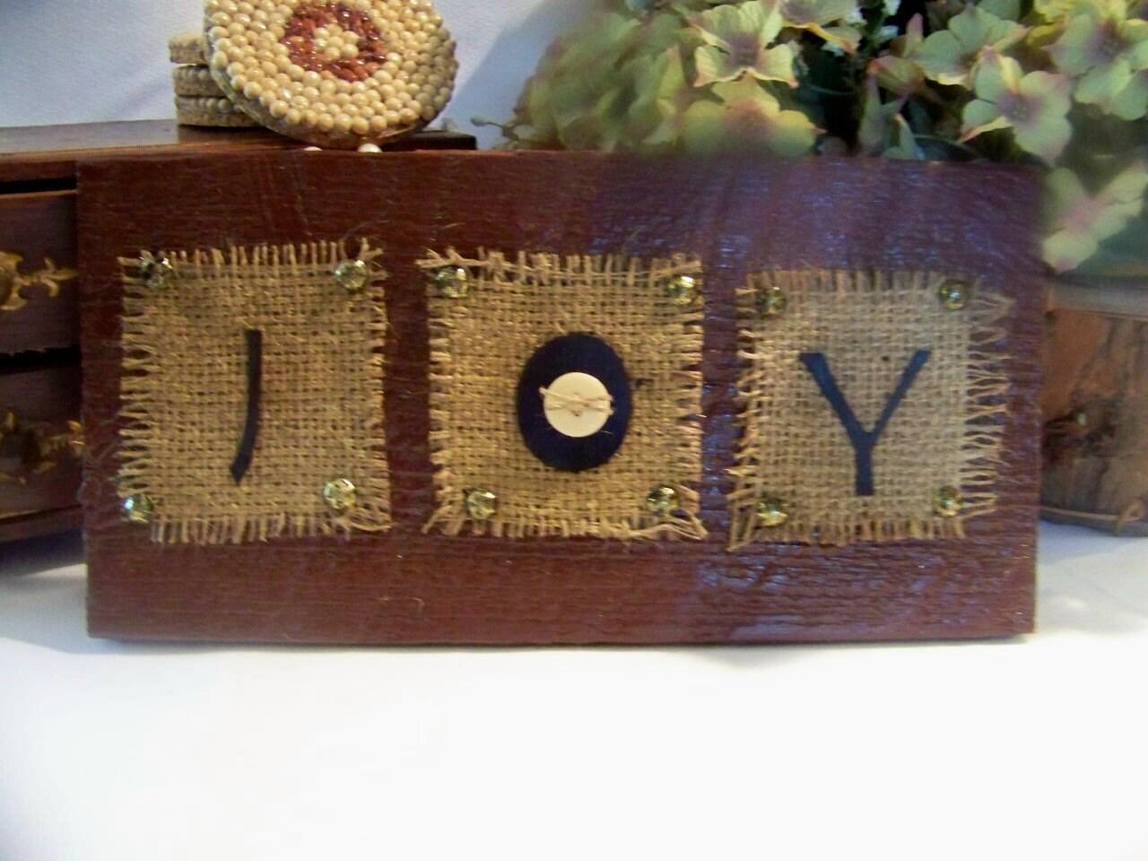 joy primitive christmas decor handmade barn wood sign. Black Bedroom Furniture Sets. Home Design Ideas