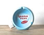 Mid Century Advertising Ashtray Ipana Plus Dentifrice SCARCE
