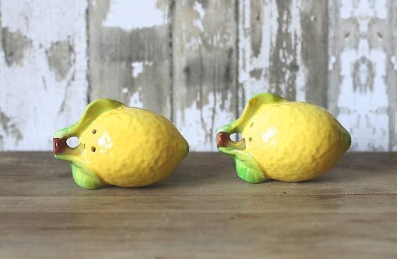 Vintage Lemon Salt And Pepper Shakers SMI Japan Mint NOS