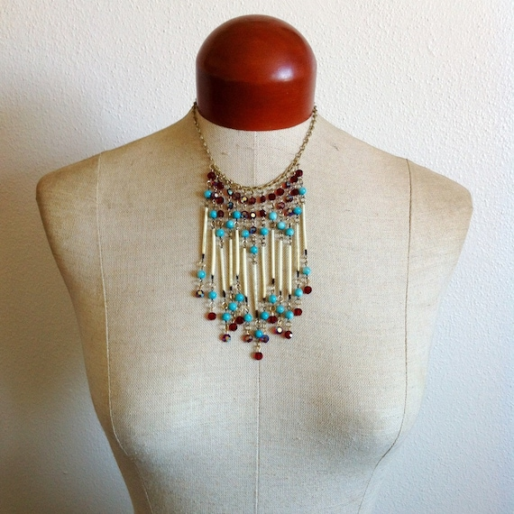 Sunset- Fringe Porcupine Quill Necklace