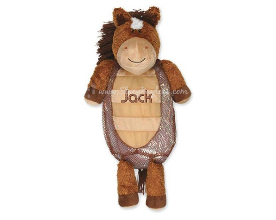 Horse Plush Back Pack or Diaper Bag - Includes FREE Personalization - Same Day Shipping