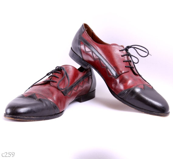 reserved till 26th of April. Leather Brogues / Spectator shoes / Two Tone Oxfords / Handmade / size Eur 46, USA 12