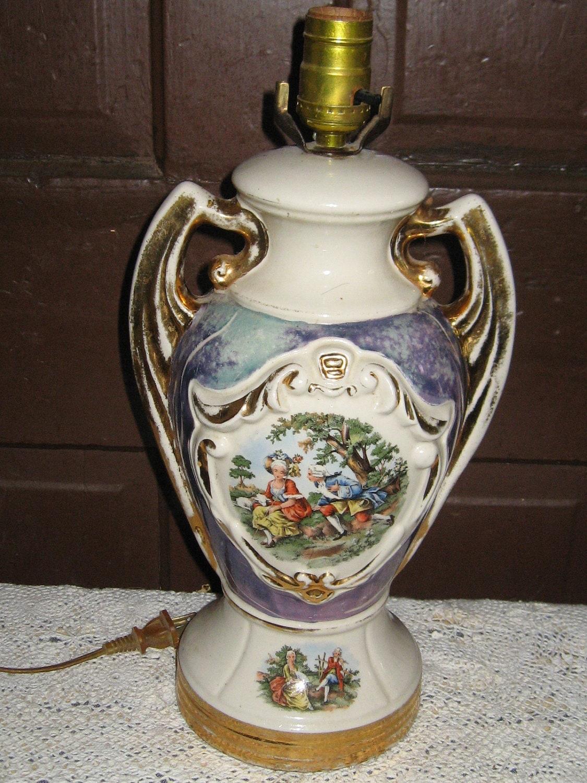 Antique 2 Handle Hand Painted Porcelain By Linsvintageboutique