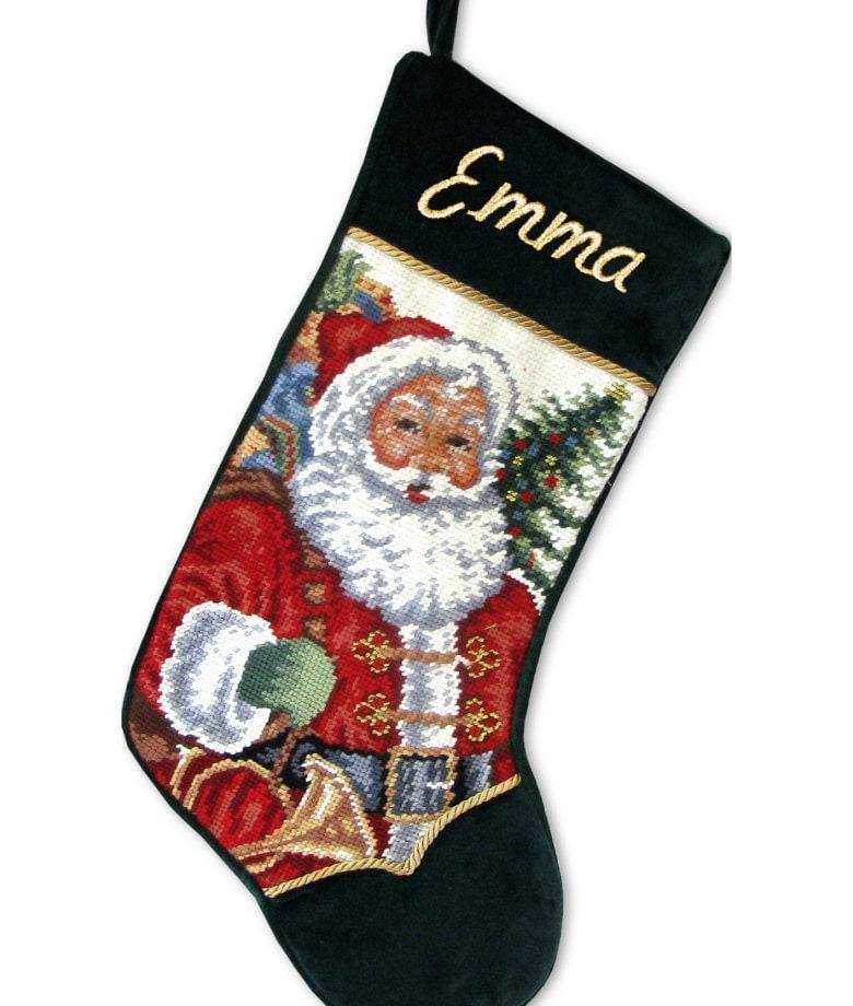 Personalized Needlepoint Stockings Santa