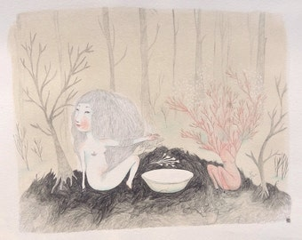 """Print """"Je serai dans la forêt"""""""
