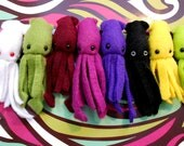 Tiny Squid Plush CHOOSE YOUR COLOR