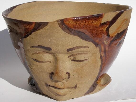 Face Planter Flower Pot Sculpture Head Indoor Outdoor By