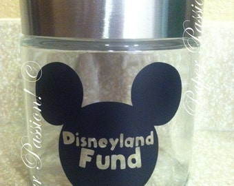 "Glass Jar ""Disneyland Fund"""