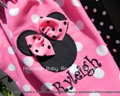 Mouse Vacation Pillowcase Dress Pink and Black with Monogram