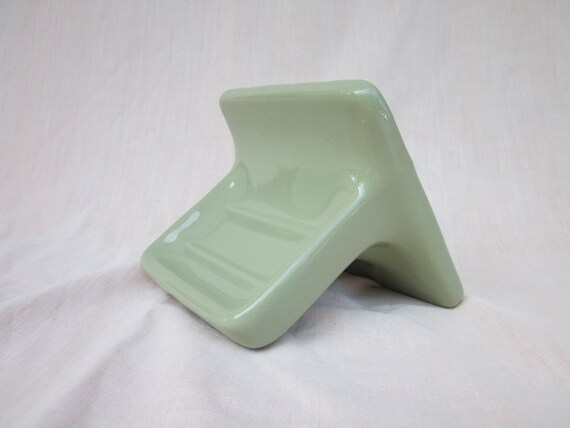 Avocado Green Retro Vintage Ceramic Tile Soap Dish Soap Holder