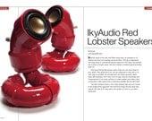 ikyaudio Red Lobester Audio Speakers - With Free 15 Watt Amp - Design Copyright Pending