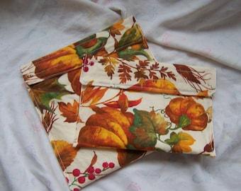 Set of one reusable snack bag and one reusable sandwich bag, Custom