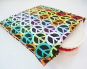 Reusable Eco Friendly Sandwich Bag - Peace Signs -