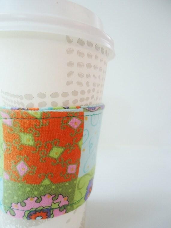 Reusable Coffee Cozy - Patchwork -