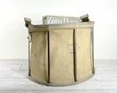 Vintage Fruit Picking Basket / Rustic Basket / Industrial Storage