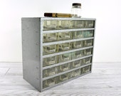 RESERVED - Vintage Metal Storage Cabinet with 24 Drawers / Shop Cabinet / Industrial Storage