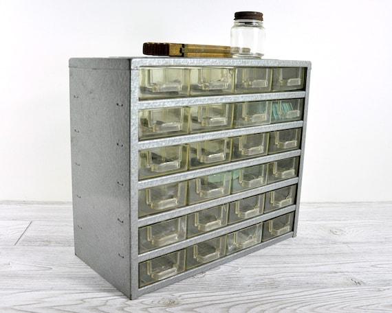 RESERVED - Vintage Metal Storage Cabinet with 24 Drawers / Shop Cabinet / Industrial Storage