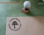 your custom Monogram  Tree Personalized Self ink Custom Made Return Address Rubber Stamp great gift