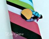 Canvas Colorful Stripes Spill Proof Interchangeable  Knitting Needle Case Organizer Design Your Own Fabric Option