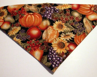 Dog Bandana Fall, Autumn, Harvest, Thanksgiving, Halloween, pumpkin, sunflower, gourds