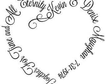 For Time and All Eternity wedding date custom vinyl decal