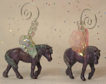Horsenfeffer Fairy custom horse Ornament set