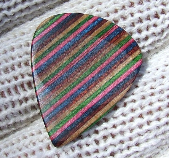 Custom Dymondwood Guitar Pick - Handmade Premium Guitar Pick