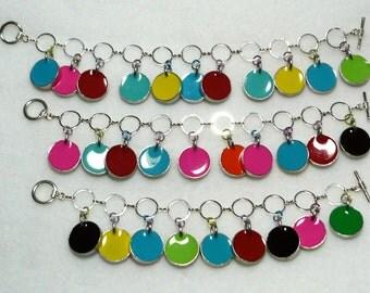 Colorful Mod Charm Bracelet