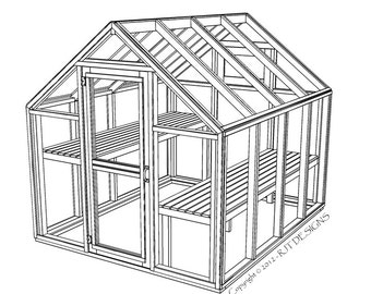 "6'-10"" x 8'-0"" Greenhouse Plans - Printed Version"