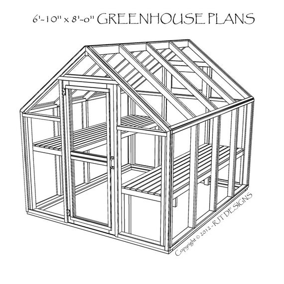 6 10 X 8 0 Greenhouse Plans Printed on tiny house ideas