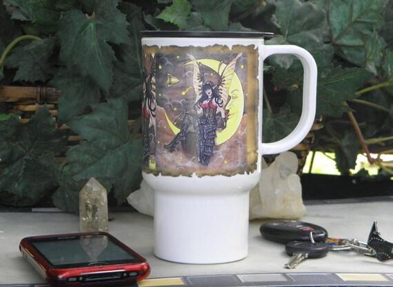 Polymer Travel Mug Fantasy Steampunk Fairy