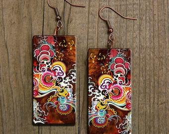 Irezumi earrings