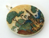 Fairy Tale, Handmade Decoupaged Pendant, FREE SHIPPING