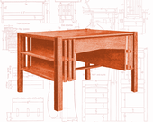 Woodworking Furniture Plans Mission Style Library Table American Craftsman Authentic Period Plans