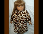 American Girl Doll Clothes Leopard Faux Fur Full Length Coat