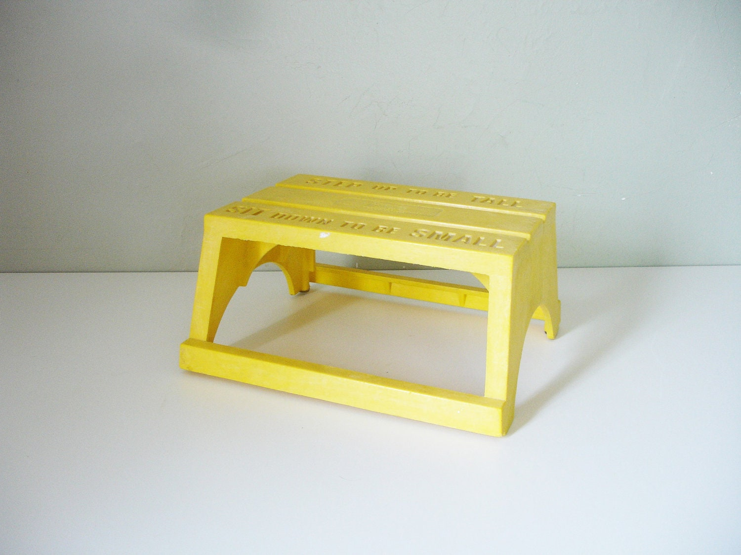 Vintage Yellow Plastic Step Stool By Empire By Industrialrelic
