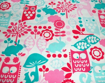 Michael MIller Forest Life in Aqua 1 yard 30 inches - last piece