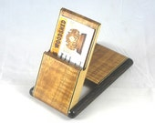Business Card Case - Hawaiian Curly Koa with Black Palm