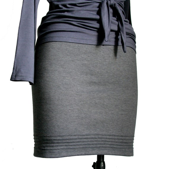 classic pencil skirt grey pencil skirt pleated by tasifashion