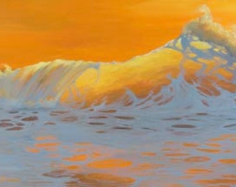 Glow From Within Paper Giclee Print Seascape Ocean by Carol Thompson
