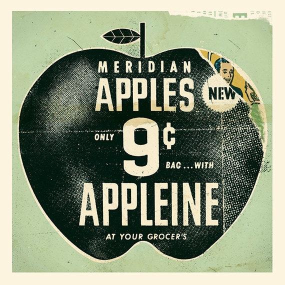 """Vintage Apple Ad / Print 12"""" x 12"""""""