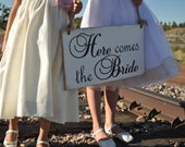 Wedding Sign, Here Comes The Bride