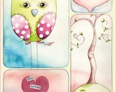 Hoo Loves You Note Card