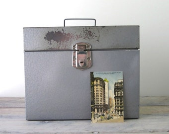 Metal File Box Gun Metal Gray