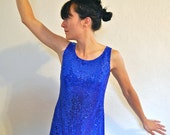 Blue Vintage Sequin Dress