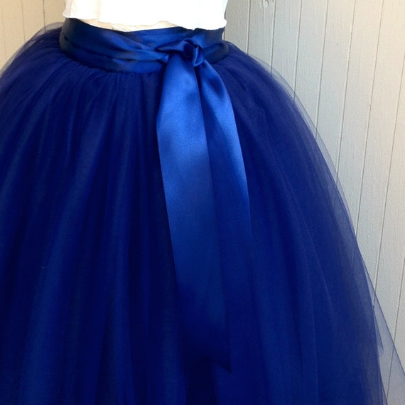 navy blue tulle skirt tutu for lined in black satin with
