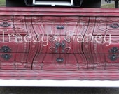 Embers/Custom Painted Vintage Bombay Dresser-Made to Order