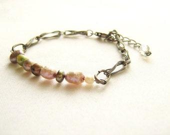 Freshwater Pearl Bracelet, Adjustable Chain Bracelet