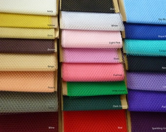 Weekly Promos -- Any Colors of 2 Yards 9 inches wide Birdcage Russian/French Veiling