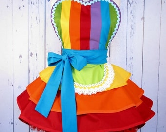 Fairy Rainbow Princess Ballerina Apron by Dots Diner
